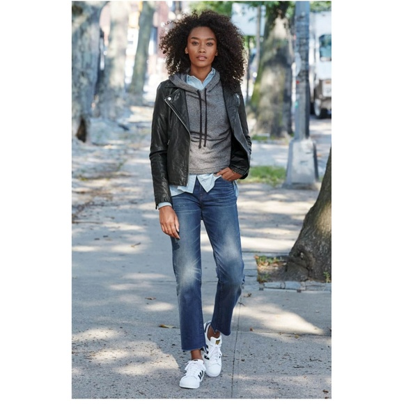 order online save off high quality Madewell Jackets & Coats | Washed Leather Moto Jacket | Poshmark